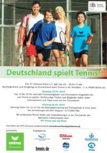 """Ablauf der Aktion """"Deutschland spielt Tennis"""""""